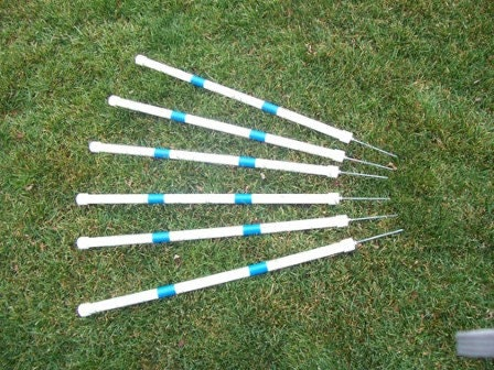 weave pole guide wires for dog agility