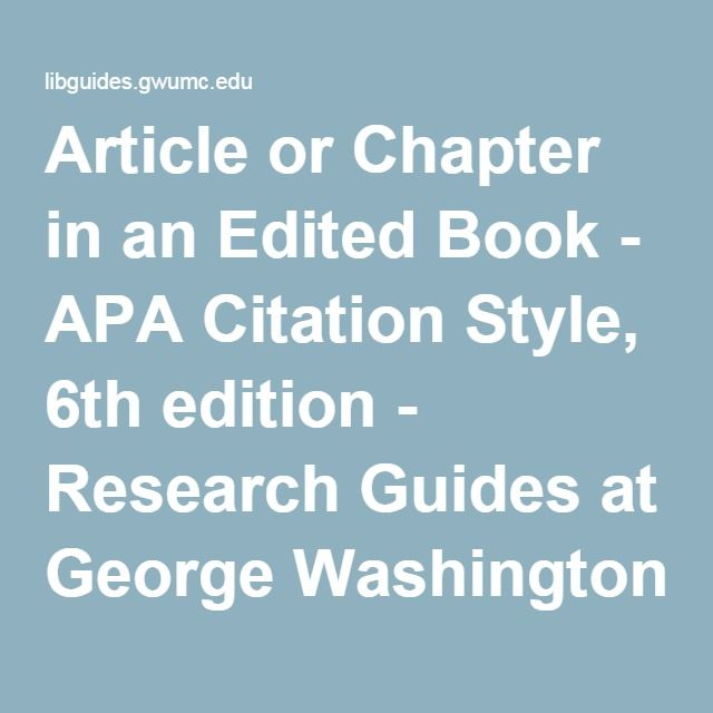 apa guide chapter in book