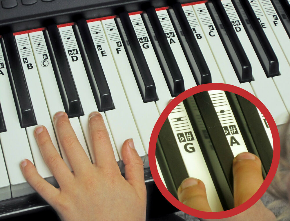 piano keyboard key stickers free downloadable placement guide