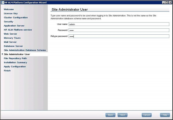 hp alm site administration guide